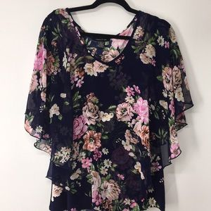 Adele & May floral print blouse